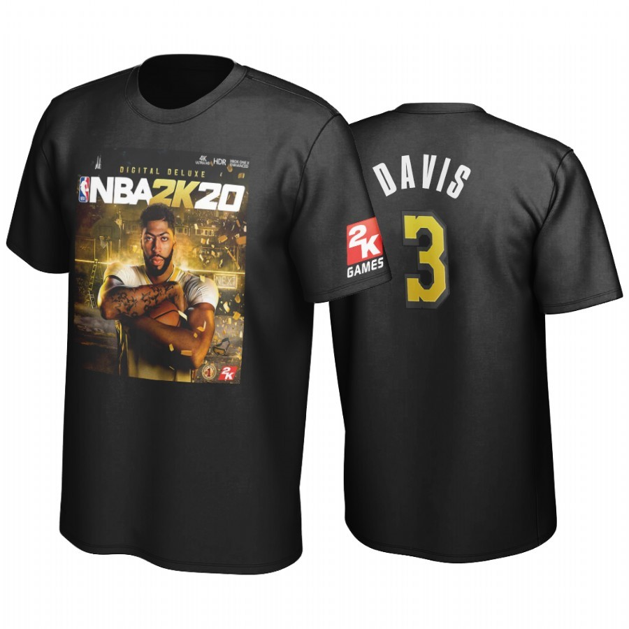T Shirt NBA Golden State Los Angeles Lakers Anthony Davis Negro