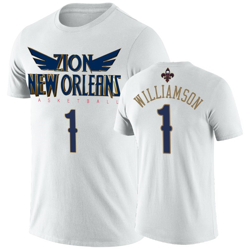T Shirt NBA New Orleans Pelicans Zion Williamson Blanco