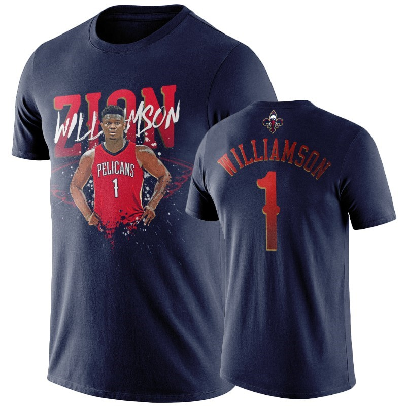 T Shirt NBA New Orleans Pelicans Zion Williamson Marino Player Graphic