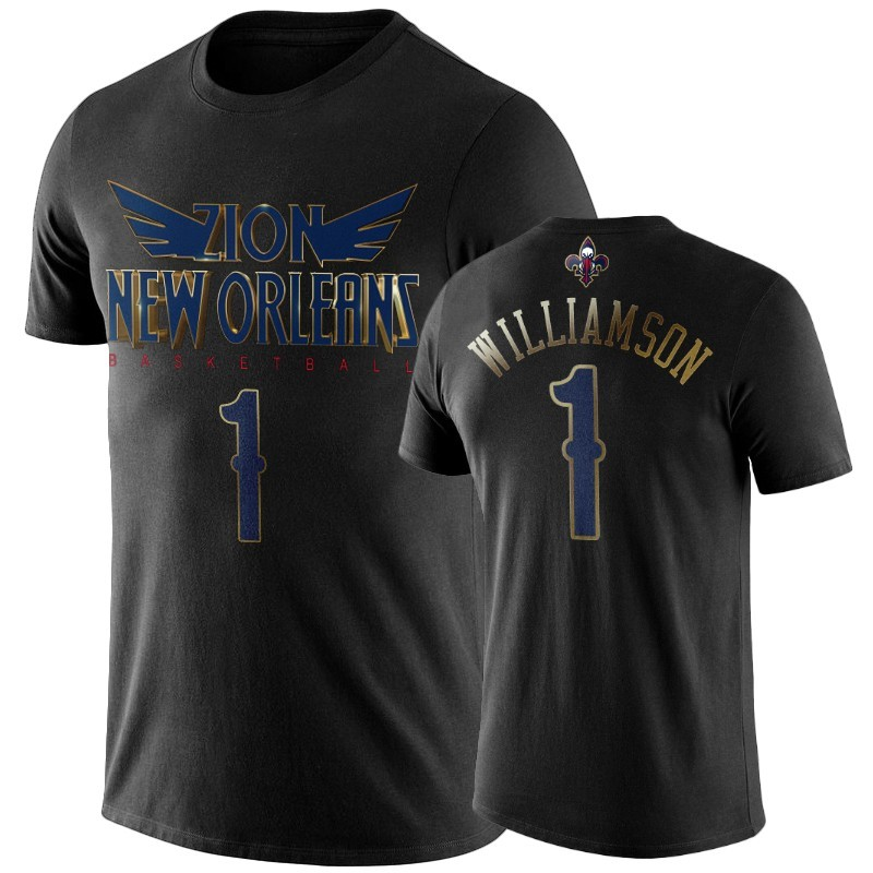 T Shirt NBA New Orleans Pelicans Zion Williamson Negro