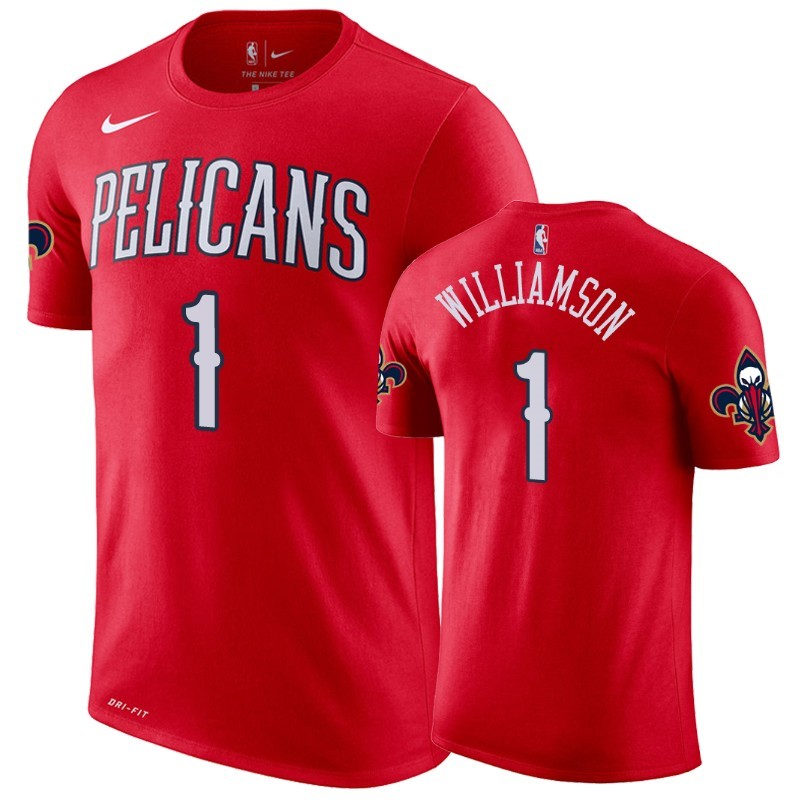 T Shirt NBA New Orleans Pelicans Zion Williamson Rojo Statement