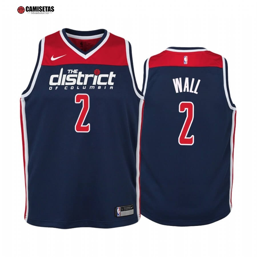 Camisetas NBA Niño Washington Wizards NO.2 John Wall Marino Statement 2019-20