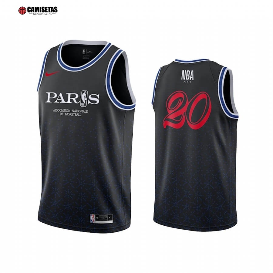 Camisetas NBA Paris 2020 NBA Team 31 Negro
