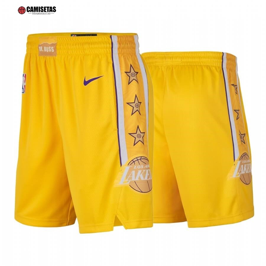 Pantalones NBA Los Angeles Lakers Nike Amarillo Ciudad 2019-20