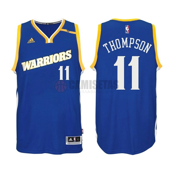 Camisetas NBA Golden State Warriors NO.11 Klay Thompson 2016-2017 Azul Barats