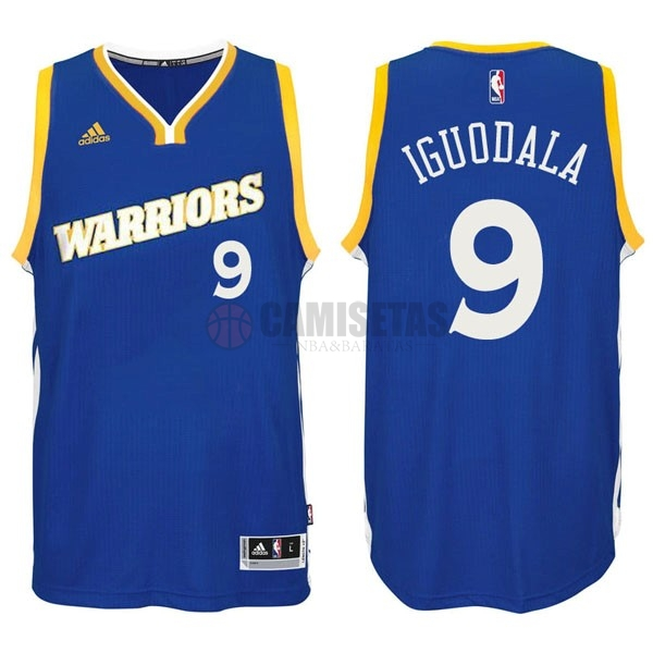 Camisetas NBA Golden State Warriors NO.9 Andre Iguodala 2016-2017 Azul Barats