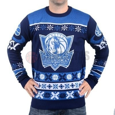 Unisex Ugly Sweater Dallas Mavericks Azul Barats