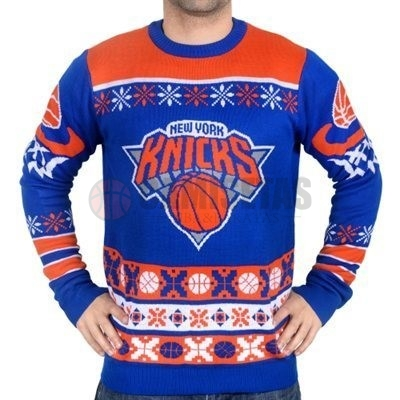 Unisex Ugly Sweater New York Knicks Azul Barats