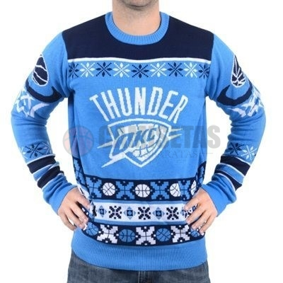 Unisex Ugly Sweater Oklahoma City Thunder Azul Barats