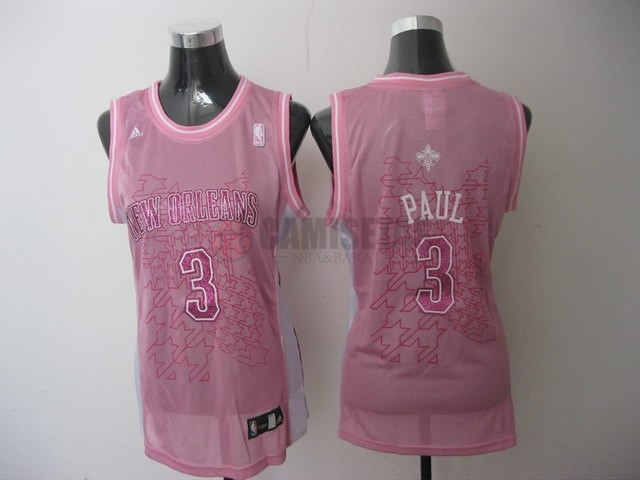 Camisetas NBA Mujer Los Angeles Clippers NO.32 Blake Griffin Rose Barats