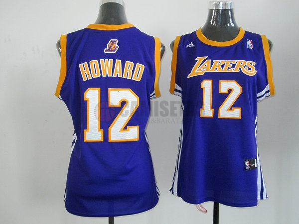 Camisetas NBA Mujer Los Angeles Lakers NO.12 Dwight Howard Azul Barats