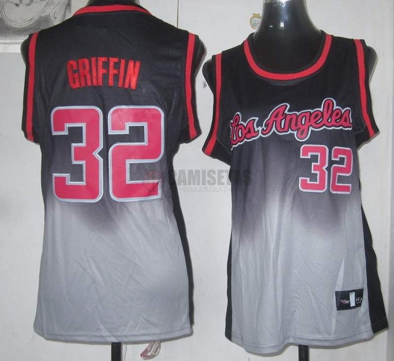 Camisetas NBA Mujer Resonar Moda NO.32 Blake Griffin Barats