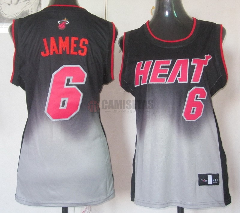 Camisetas NBA Mujer Resonar Moda NO.6 LeBron Jamese Barats