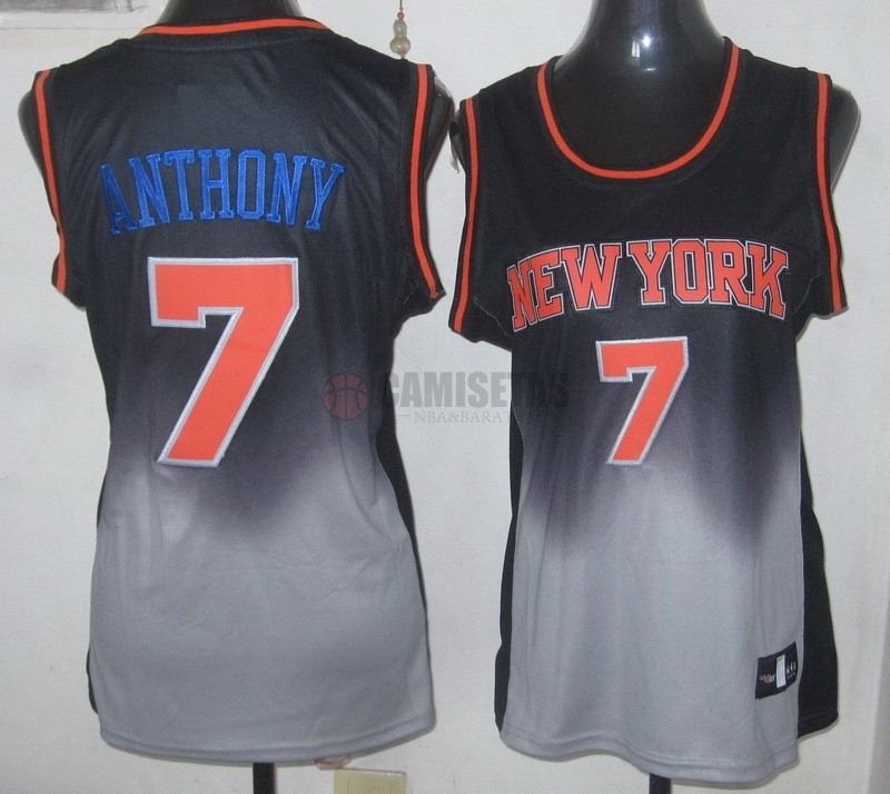 Camisetas NBA Mujer Resonar Moda NO.7 Carmelo Anthony Barats