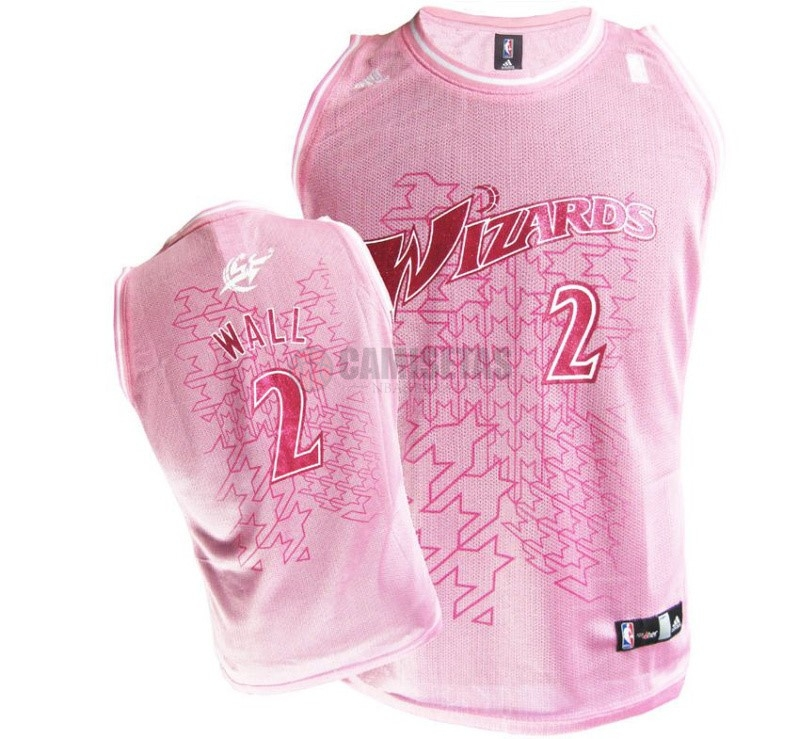 Camisetas NBA Mujer Washington Wizards NO.2 John Wall Rose Barats