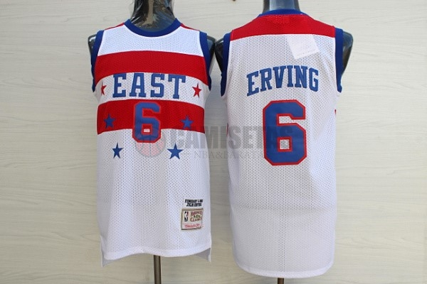 Camisetas NBA 1980 All Star NO.23 Julius Winfield Erving Blanco Barats
