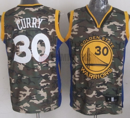 Camisetas NBA 2013 Camuflaje Moda NO.30 Curry Barats