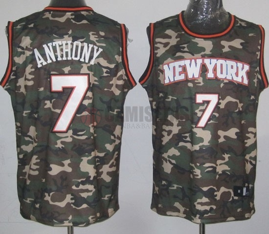 Camisetas NBA 2013 Camuflaje Moda NO.7 Anthony Barats