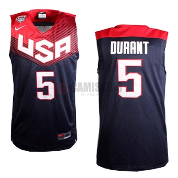 Camisetas NBA 2014 USA NO.5 Durant Negro Barats