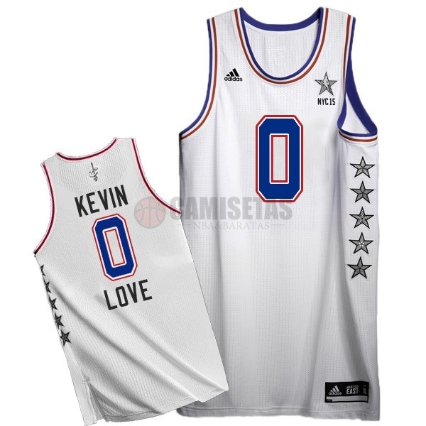 Camisetas NBA 2015 All Star NO.0 Kevin Love Blanco Barats