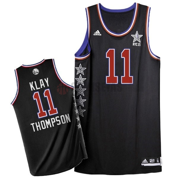Camisetas NBA 2015 All Star NO.11 Klay Thompson Negro Barats