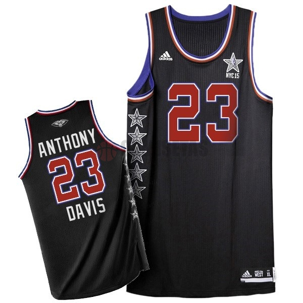 Camisetas NBA 2015 All Star NO.23 Baron Davis Negro Barats