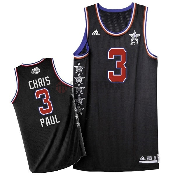 Camisetas NBA 2015 All Star NO.3 Chris Paul Negro Barats