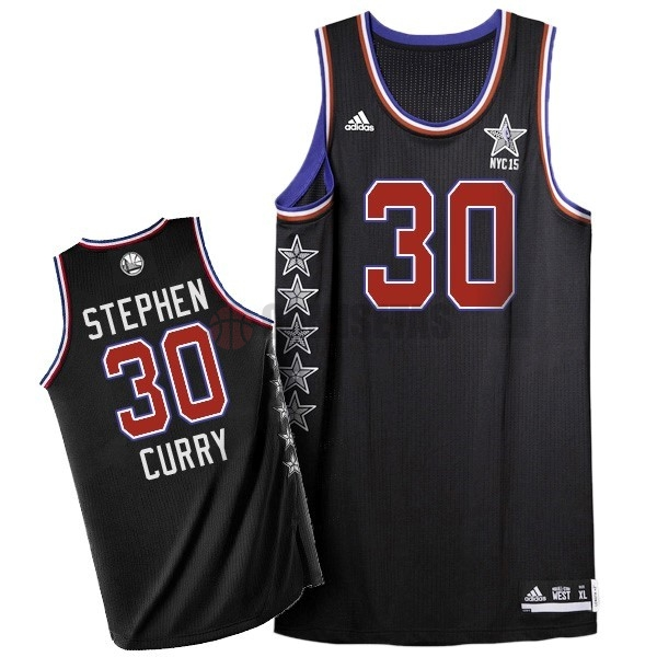 Camisetas NBA 2015 All Star NO.30 Stephen Curry Negro Barats