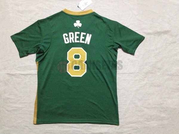 Camisetas NBA Boston Celtics Manga Corta No.8 Jeff Green Verde Barats