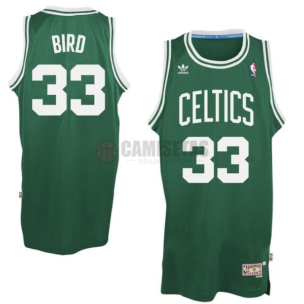 Camisetas NBA Boston Celtics No.33 Larry Joe Bird Verde Barats