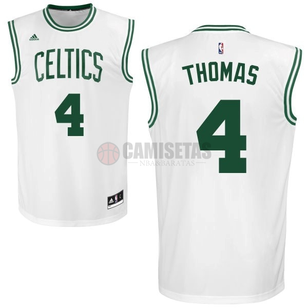 Camisetas NBA Boston Celtics No.4 Isaiah Thomas Blanco Barats