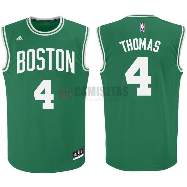 Camisetas NBA Boston Celtics No.4 Isaiah Thomas Verde Barats
