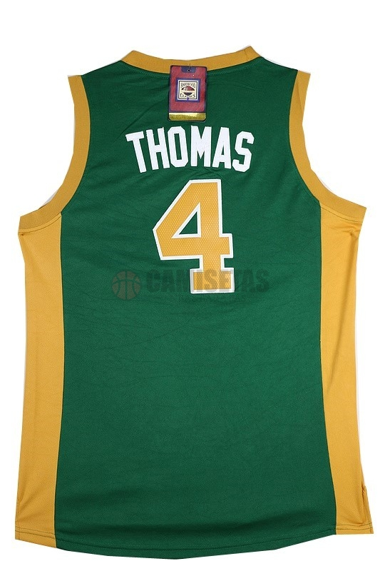 Camisetas NBA Boston Celtics No.4 Isaiah Thomas Verde Naranja Barats