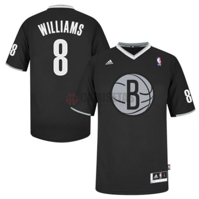 Camisetas NBA Brooklyn Nets 2013 Navidad NO.8 Williams Negro Barats
