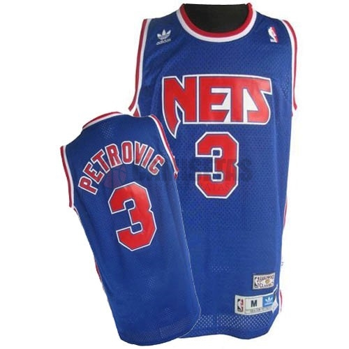 Camisetas NBA Brooklyn Nets No.3 Drazen Petrovic Azul Barats