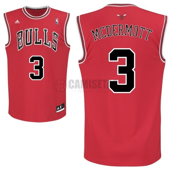 Camisetas NBA Chicago Bulls NO.3 Doug McDermott Rojo Barats
