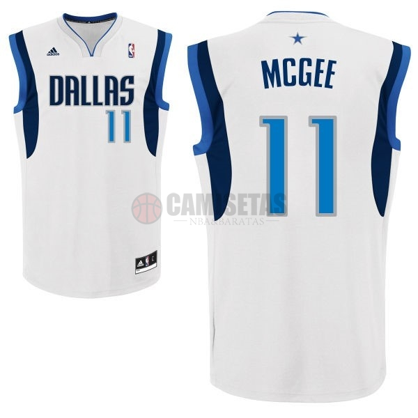 Camisetas NBA Dallas Mavericks NO.11 Monta Ellis Blanco Barats