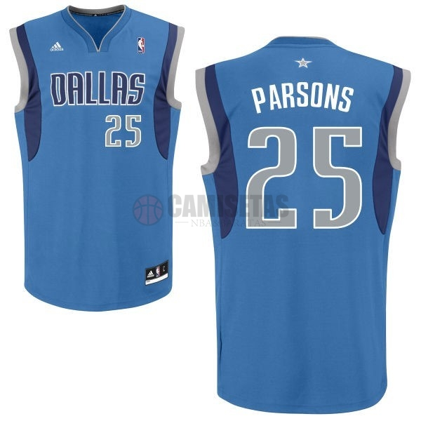 Camisetas NBA Dallas Mavericks NO.25 Chandler Parsons Azul Barats