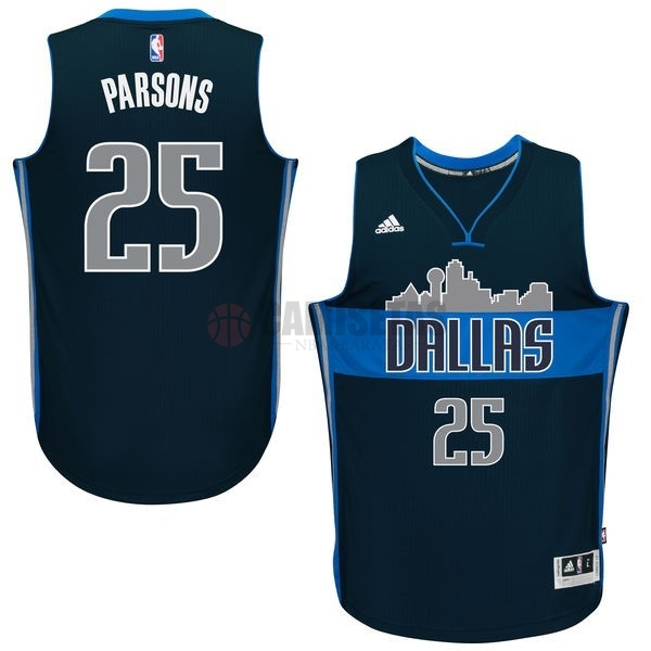Camisetas NBA Dallas Mavericks NO.25 Chandler Parsons Azul Profundo Barats
