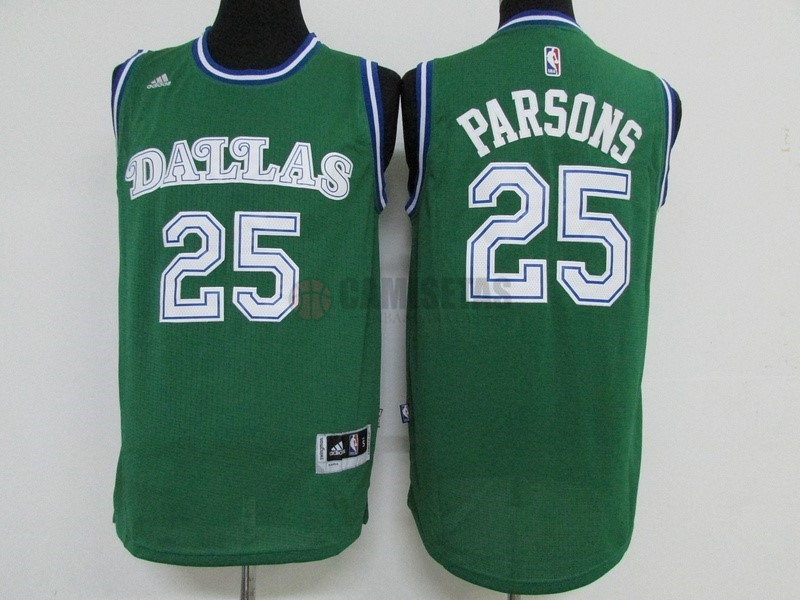 Camisetas NBA Dallas Mavericks NO.25 Chandler Parsons Verde Barats