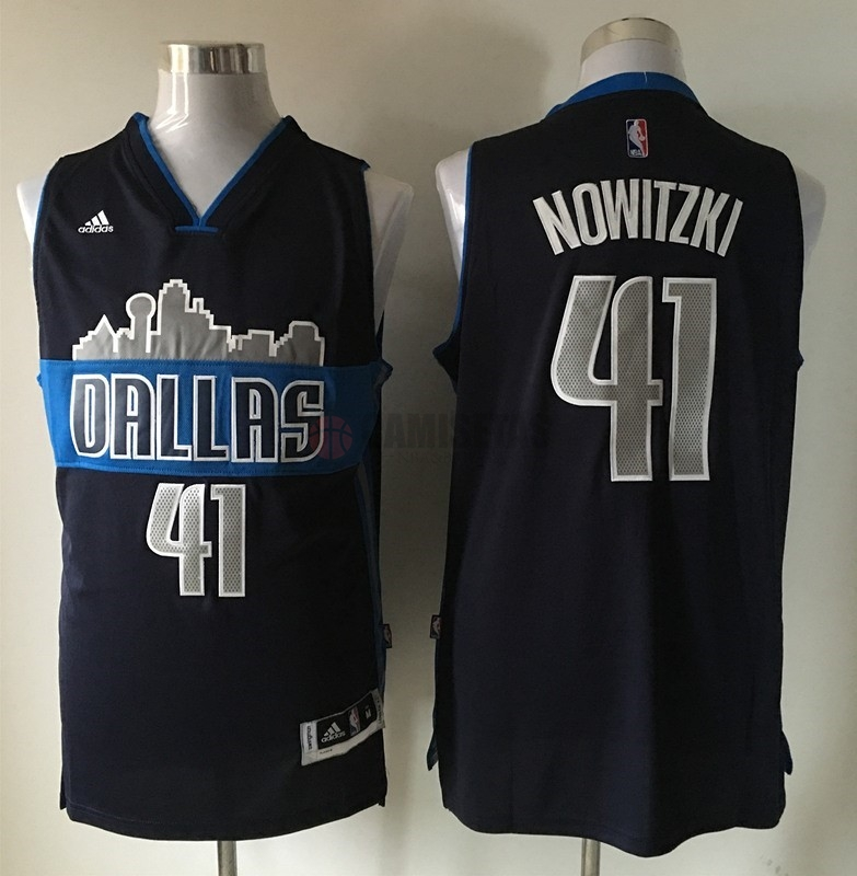 Camisetas NBA Dallas Mavericks NO.41 Dirk Nowitzki Negro Barats