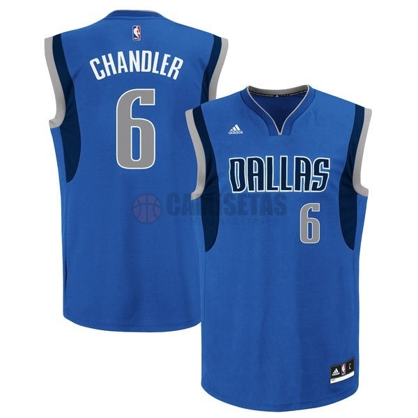Camisetas NBA Dallas Mavericks NO.6 Tyson Chandler Azul Barats