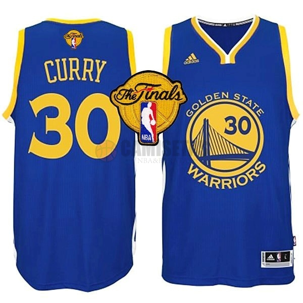 Camisetas NBA Golden State Warriors Finales NO.30 Curry Azul Barats