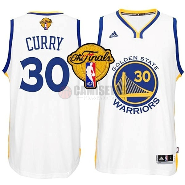 Camisetas NBA Golden State Warriors Finales NO.30 Curry Blanco Barats
