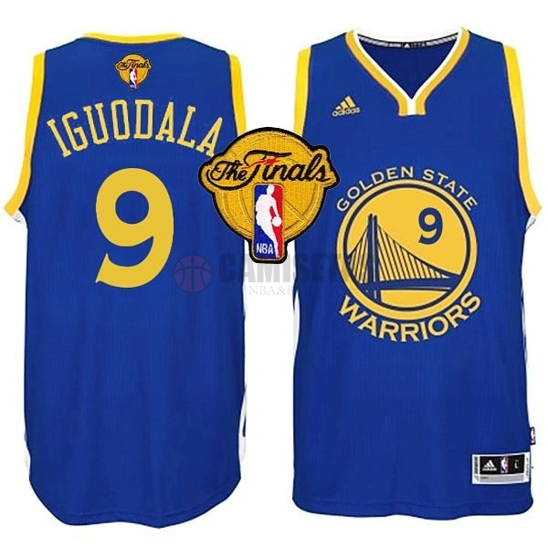 Camisetas NBA Golden State Warriors Finales NO.9 Iguodala Azul Barats
