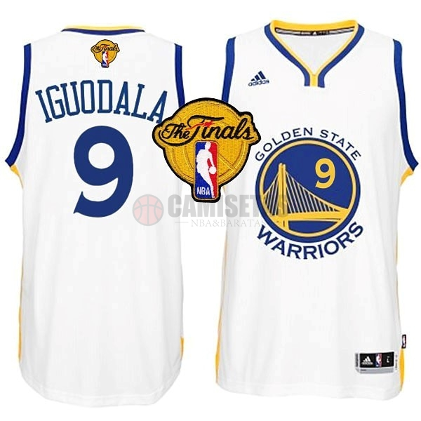Camisetas NBA Golden State Warriors Finales NO.9 Iguodala Blanco Barats