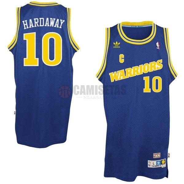 Camisetas NBA Golden State Warriors NO.10 Anfernee Hardaway Retro Azul Barats