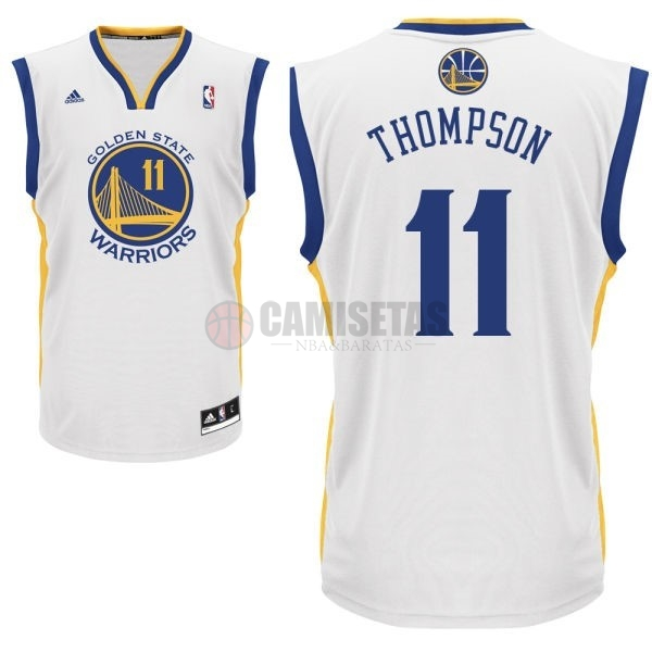 Camisetas NBA Golden State Warriors NO.11 Klay Thompson Blanco Barats