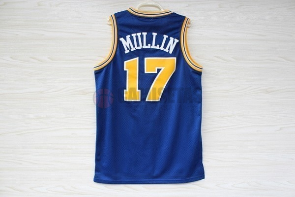 Camisetas NBA Golden State Warriors NO.17 Chris Mullin Azul Barats