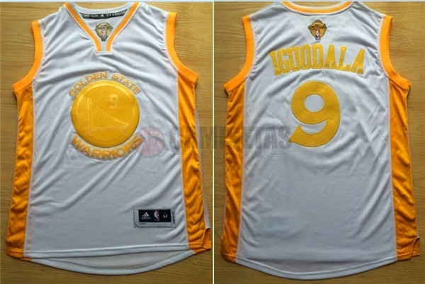 Camisetas NBA Golden State Warriors NO.9 Andre Iguodala Oro Barats